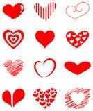σύνολο καρδιών Στοκ εικόνα με δικαίωμα ελεύθερης χρήσης