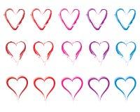 Σύνολο καρδιών Στοκ Φωτογραφίες