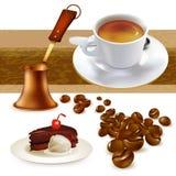 σύνολο καφέ Στοκ Φωτογραφίες