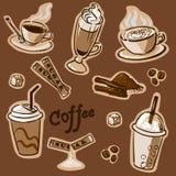 σύνολο καφέ Απεικόνιση αποθεμάτων