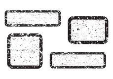 Σύνολο κενού γραμματοσήμου grunge, γραφικά στοιχεία σχεδίου, ο Μαύρος που απομονώνεται στο άσπρο υπόβαθρο, απεικόνιση απεικόνιση αποθεμάτων