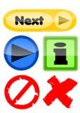Σύνολο κουμπιών για ιστοσελίδας απεικόνιση αποθεμάτων