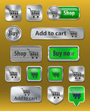 Σύνολο κουμπιών Ιστού ηλεκτρονικού εμπορίου Στοκ εικόνα με δικαίωμα ελεύθερης χρήσης