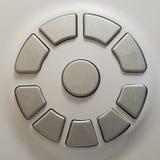Σύνολο κουμπιών στην άσπρη ηλεκτρονική συσκευή Σύγχρονη διεπαφή πινάκων ελέγχου Στοκ εικόνες με δικαίωμα ελεύθερης χρήσης