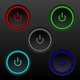Σύνολο κουμπιών on-off 10 eps ελεύθερη απεικόνιση δικαιώματος