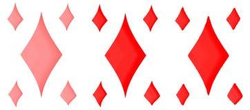 Σύνολο κόκκινων rhombuses σε ένα άσπρο υπόβαθρο για το σχέδιό σας απεικόνιση αποθεμάτων