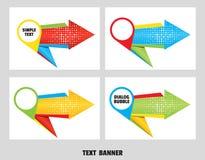 Σύνολο λεκτικής φυσαλίδας βελών origami Έμβλημα διαλόγου δεικτών χαρτών για το μήνυμα από το βέλος origami εγγράφου στοκ εικόνες