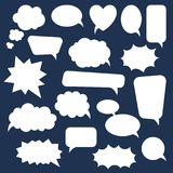 Σύνολο λεκτικών φυσαλίδων κινούμενων σχεδίων doodle Πρότυπο για τη διαφήμιση, comics, σχέδιο Ιστού, εκτύπωση Στοκ Εικόνα