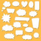 Σύνολο λεκτικών φυσαλίδων κινούμενων σχεδίων doodle Πρότυπο για τη διαφήμιση, comics, σχέδιο Ιστού, εκτύπωση Στοκ φωτογραφία με δικαίωμα ελεύθερης χρήσης