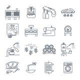 Σύνολο λεπτών οικιακών συσκευών εικονιδίων γραμμών, εξοπλισμός διανυσματική απεικόνιση