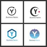 Σύνολο λογότυπων γραμμάτων Υ διανυσματική απεικόνιση