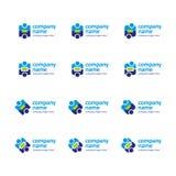 σύνολο λογότυπων εικον& Στοκ φωτογραφία με δικαίωμα ελεύθερης χρήσης