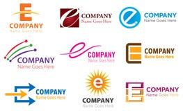 Σύνολο λογότυπων Ε απεικόνιση αποθεμάτων