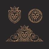 Σύνολο λογότυπων λιονταριών Στοκ Φωτογραφίες