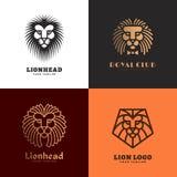 Σύνολο λογότυπων λιονταριών Στοκ φωτογραφία με δικαίωμα ελεύθερης χρήσης