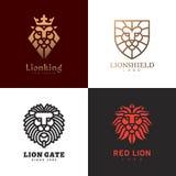Σύνολο λογότυπων λιονταριών Στοκ Εικόνες