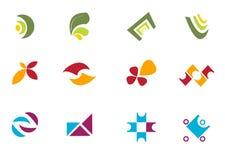 σύνολο λογότυπων στοκ εικόνες