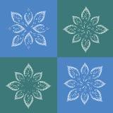 Σύνολο λουλουδιών, πρότυπο λογότυπων ομορφιάς Σχέδιο φυσαλίδων Περίληψη Στοκ Εικόνες