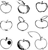 σύνολο μήλων Στοκ Εικόνες