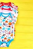 Σύνολο μαλακά rompers μωρών Στοκ Εικόνες