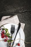 Σύνολο μαχαιροπήρουνων με τη διακόσμηση φθινοπώρου Στοκ Εικόνα