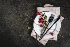 Σύνολο μαχαιροπήρουνων με τη διακόσμηση φθινοπώρου Στοκ Φωτογραφίες
