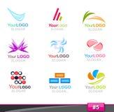σύνολο μερών λογότυπων 5 σ&ta Στοκ φωτογραφία με δικαίωμα ελεύθερης χρήσης