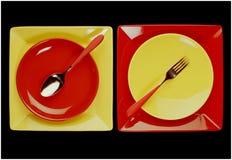 σύνολο μεσημεριανού γεύ&mu Στοκ Φωτογραφία