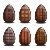 Σύνολο με τα αυγά σοκολάτας Στοκ εικόνες με δικαίωμα ελεύθερης χρήσης