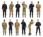 Σύνολο με τη φρουρά ασφάλειας στοκ εικόνες με δικαίωμα ελεύθερης χρήσης