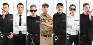 Σύνολο με τις φρουρές ασφάλειας στοκ φωτογραφία με δικαίωμα ελεύθερης χρήσης