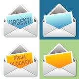 Σύνολο μηνυμάτων εικονιδίων ηλεκτρονικού ταχυδρομείου απεικόνιση αποθεμάτων