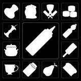 Σύνολο μουστάρδας, ψωμί, αχλάδι, μέλι, τσάι, παγωτό, δοχείο, νερό, Ελεύθερη απεικόνιση δικαιώματος