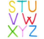 σύνολο μπαλονιών αλφάβητου Στοκ Εικόνα