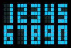 Σύνολο μπλε τετραγωνικού ψηφιακού αριθμού διανυσματική απεικόνιση