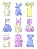 Σύνολο μωρού - φορέματα κουκλών Στοκ Εικόνες