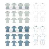 Σύνολο μόδας μπλουζών   ελεύθερη απεικόνιση δικαιώματος