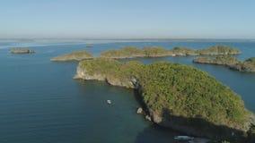 Σύνολο νησιών στη θάλασσα Φιλιππίνες Στοκ εικόνες με δικαίωμα ελεύθερης χρήσης