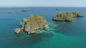 Σύνολο νησιών στη θάλασσα Φιλιππίνες Στοκ φωτογραφία με δικαίωμα ελεύθερης χρήσης