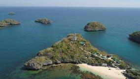 Σύνολο νησιών στη θάλασσα Φιλιππίνες Στοκ Εικόνα