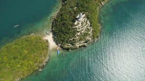 Σύνολο νησιών στη θάλασσα Φιλιππίνες Στοκ Φωτογραφίες