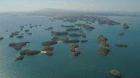 Σύνολο νησιών στη θάλασσα Φιλιππίνες Στοκ Εικόνες