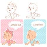 Σύνολο ντους μωρών απεικόνιση αποθεμάτων
