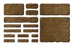 Σύνολο ξύλινων επιτροπών στοκ εικόνες