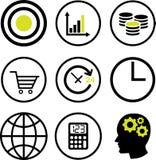 Σύνολο οικονομικών εικονιδίων έννοιας - διανυσματικό εικονικό σχέδιο Στοκ φωτογραφίες με δικαίωμα ελεύθερης χρήσης