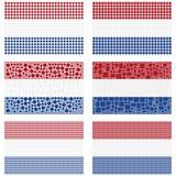 Σύνολο ολλανδικών σημαιών μωσαϊκών Στοκ εικόνες με δικαίωμα ελεύθερης χρήσης