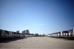 Σύνολο πάρκων οχημάτων των ρυμουλκών μεταφορών για το φορτίο Στοκ Εικόνα