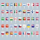 Σύνολο παγκόσμιων σημαιών Στοκ εικόνες με δικαίωμα ελεύθερης χρήσης