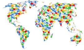 Σύνολο παγκόσμιων χαρτών των χαπιών Στοκ Εικόνα
