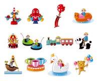 σύνολο παιδικών χαρών εικ&om Στοκ Εικόνες